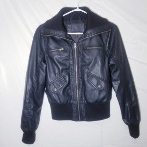 Candy Couture Black Pleather Jacket
